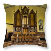 St Olafs Kirke Pulpit Throw Pillow