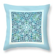 St Omer - Blues Throw Pillow