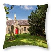 St Oswald's Church Entrance Throw Pillow