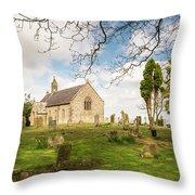 St Oswald's Church Graveyard Throw Pillow