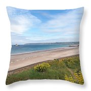 St Ouen's Bay Jersey Throw Pillow