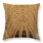 St. Patrick's Cathedral - Detail Of Main Altar's Ceiling Throw Pillow