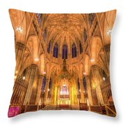 St Patrick's Cathedral Manhattan New York Throw Pillow