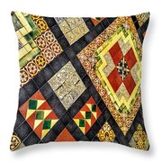 St. Patrick's Cathedral Mosaic Floors Throw Pillow