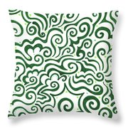 St Patrick's Day Abstract Throw Pillow