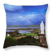 St Patricks Statue, Co Mayo, Ireland Throw Pillow