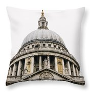 St Paul Cathedral Dome Throw Pillow
