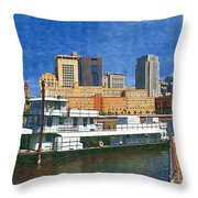 St Paul On The Mississippi Throw Pillow