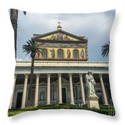 St. Paul Outside The Walls Throw Pillow