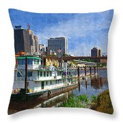 St Paul Tugboat Throw Pillow