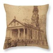 St. Paul's, Broadway, N.y. Throw Pillow
