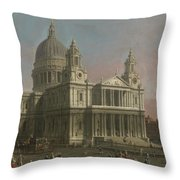 St. Paul's Cathedral Throw Pillow by Giovanni Antonio Canaletto