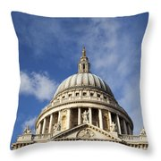 St Pauls Cathedral London England Uk Throw Pillow