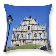 St. Pauls Cathedral Ruin Throw Pillow