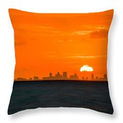 St. Pete Fireball Throw Pillow
