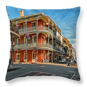 St Peter St New Orleans Throw Pillow