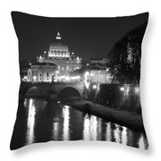 St. Peters At Night Throw Pillow