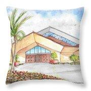St. Peter's Catholic Church, Jupiter, Florida Throw Pillow