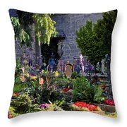 St. Peter's Cemetery Gravesites Throw Pillow