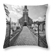 Church And Gravemarkers Throw Pillow