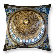 St. Peters Inside The Dome Throw Pillow