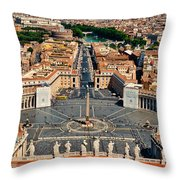 St Peter's Square Throw Pillow