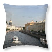 St. Petersburg Canal - Russia Throw Pillow
