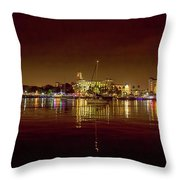St Petersburg, Fl, Skyline At Night Throw Pillow