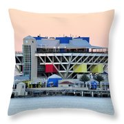 St. Petersburg Pier Throw Pillow