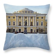 St Petersburg, Russia, Pavlovsk Palace Throw Pillow
