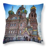 St-petersburg Straat Throw Pillow by Ariadna De Raadt