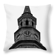 St. Philips Church Steeple Throw Pillow