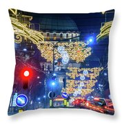St. Sava Temple In Belgrade Playing Hide And Seek With The Christmas Decorations Throw Pillow