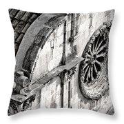 St. Saviour Church Window - Black And White Throw Pillow