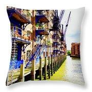 St Saviours Wharf Throw Pillow