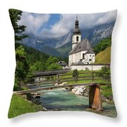 St. Sebastian Church Throw Pillow