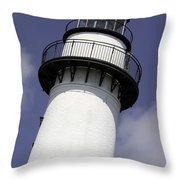 St Simons Island Lighthouse Throw Pillow