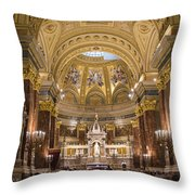 St. Stephen's Basilica Throw Pillow