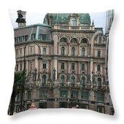 St Stephens Square Vienna Throw Pillow