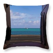 St. Thomas Alley 1 Throw Pillow