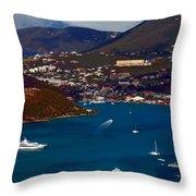 St. Thomas Bay Throw Pillow