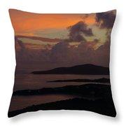 St Thomas Sunset At The U.s. Virgin Islands Throw Pillow