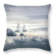 St Thomas - Sunset Over A Small Island Throw Pillow