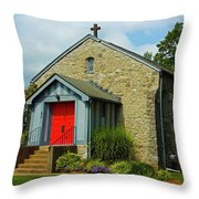 St. Timothy's Episcopal Church Throw Pillow