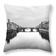 St. Trinity Bridge, Florence Throw Pillow