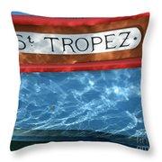 St. Tropez Throw Pillow by Lainie Wrightson