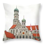 St. Ulrich's And St. Afra's Abbey Throw Pillow