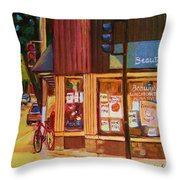 St Urbain And Mount Royal Throw Pillow