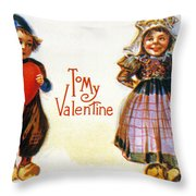 St. Valentines Day Card Throw Pillow