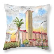 St. Victor's Catholic Church, West Hollywood, Ca Throw Pillow